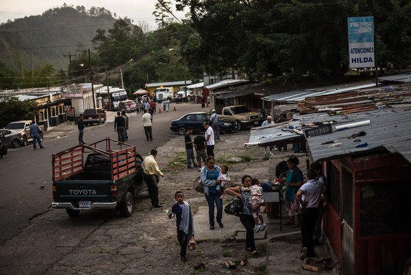 The Guatemala-Honduras Border. Photograph by Meridith Kohut | The New York Times