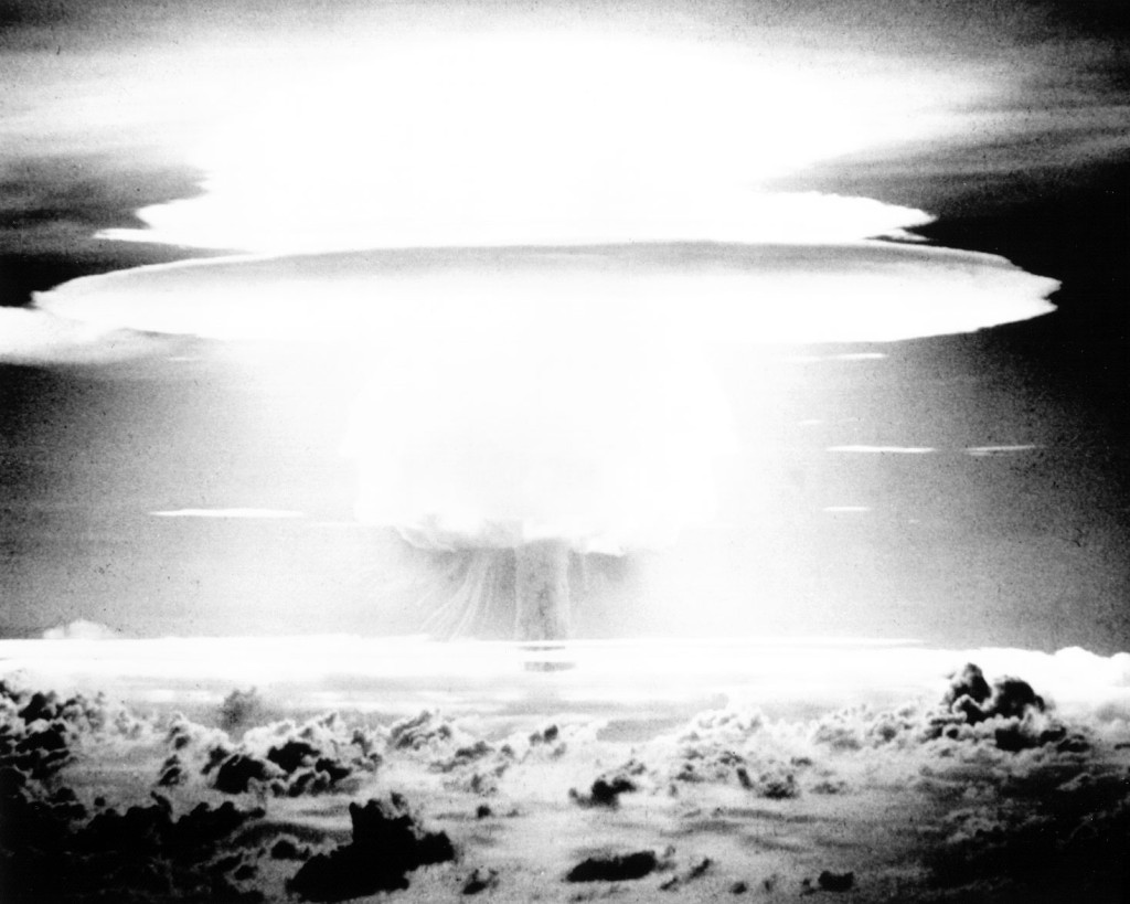 Operation Castle, BRAVO Event - The BRAVO Event was an experimental thermonuclear device, 15-megaton weapons related surface event. Detonated 28 February 1954 on Bikini Atoll. Picture by Federal Government of the United States | Wikimedia Commons